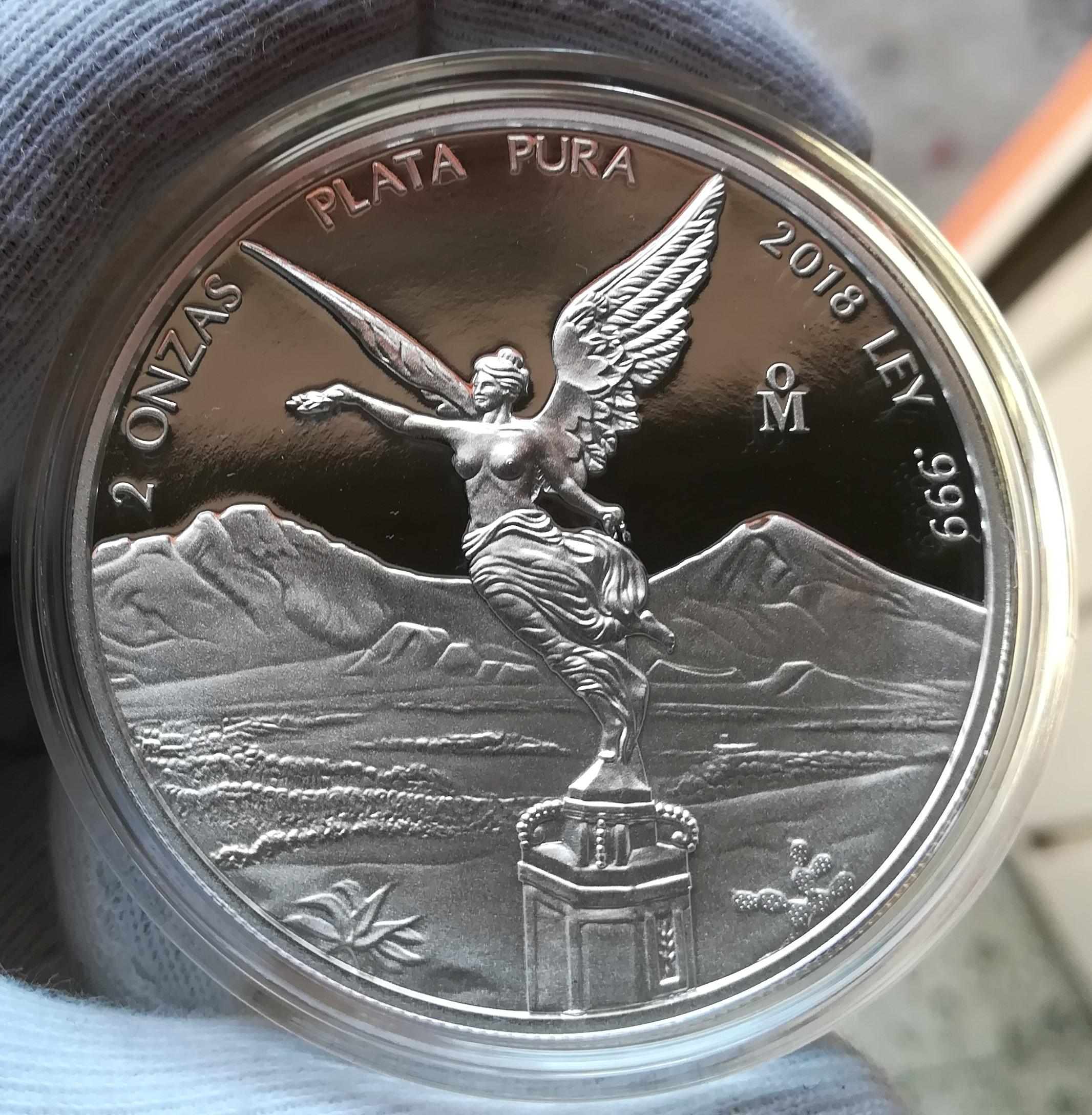 480a98846591 Moneda De 2 Onzas De Plata Libertad 2018 Acabado Proof – NUMISMÁTICA ...